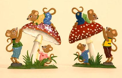 Wilhelm Schweizer Mice Pewter Figures & Ornaments