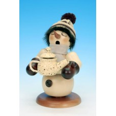 TEMPORARILY OUT OF STOCK - Snowman with Coffeepot Natural' Christian Ulbricht