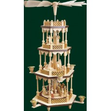 TEMPORARILY OUT OF STOCK <BR><BR>  Nativity Christmas Pyramid