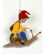 Boy with Snail Mail Hanging Ornament Wilhelm Schweizer