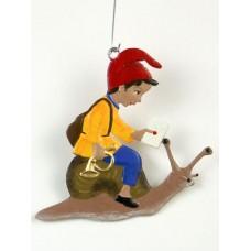Boy with Snail Mail Hanging Ornament Wilhelm Schweizer