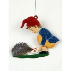 Boy Feeding a Porcupine Hanging Ornament Wilhelm Schweizer