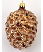 TEMPORARILY OUT OF STOCK - Frosted Mouth Blown Glass Ornament Pine Cone
