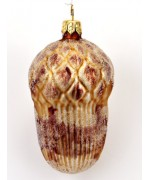 Frosted Mouth Blown Glass Ornament 'Acorn'