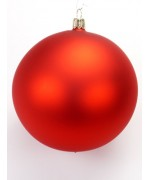 TEMPORARILY OUT OF STOCK - Glass Ornament Four Red Christmas Ball