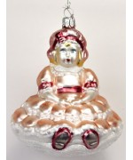TEMPORARILY OUT OF STOCK <BR><BR> Mouth Blown Glass Ornament 'Pink Princess'