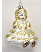 Mouth Blown Glass Ornament 'Yellow Princess'