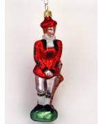 Mouth Blown Glass Ornament 'Golfer Female'