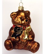 Mouth Blown Glass Ornament 'Patriotic German Teddy Bear'