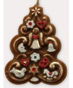 TEMPORARILY OUT OF STOCK <BR><BR> Wax Ornament Hand Painted 'Christmas Tree'