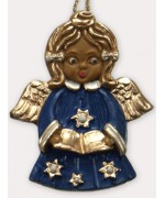 Wax Ornament Hand Painted 'Angel Blue'