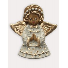 Wax Ornament Hand Painted 'Angel'