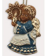 TEMPORARILY OUT OF STOCK <br>Wax Ornament Hand Painted 'Blue and White Angel'