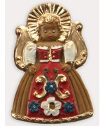 Wax Ornament Hand Painted 'Angel Red Dress'