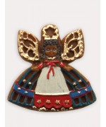 Wax Ornament Hand Painted 'Angel with Blue Dress'