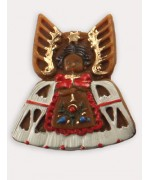 TEMPORARILY OUT OF STOCK<BR>Wax Ornament Hand Painted 'Angel with White Dress'