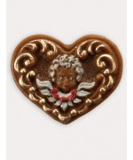 Wax Ornament Hand Painted 'Angel in Heart'