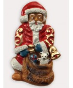 Wax Ornament Hand Painted 'Santa Bell and Sack'
