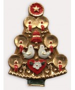 TEMPORARILY OUT OF STOCK <BR><BR> Wax Ornament Hand Painted 'Tauben Baum'