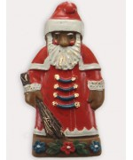 Wax Ornament Hand Painted 'Old Fashioned Santa'