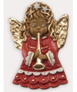 Wax Ornament Hand Painted 'Angel with Horn'