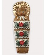 Wax Ornament Hand Painted 'Baby Papoose'