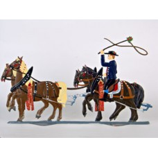 St. Leonhardifahrt Four Horses' (Part of Procession) Standing Pewter Wilhelm Schweizer