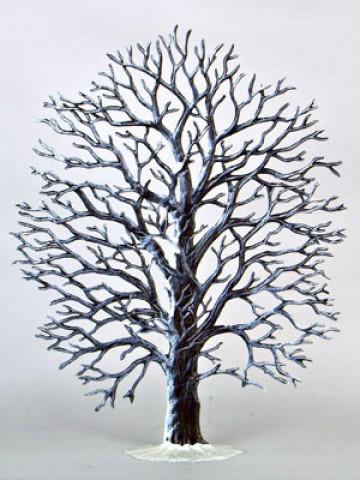 Oak Tree Winter Standing Pewter Wilhelm Schweizer