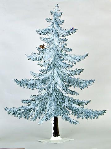 Large Winter Tree Standing Pewter Wilhelm Schweizer