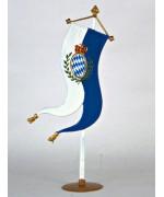 Bavarian Flag Bayrische Fahne Standing Pewter Wilhelm Schweizer