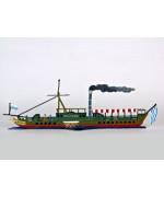 Maximillian Steam Boat Standing Pewter Wilhelm Schweizer