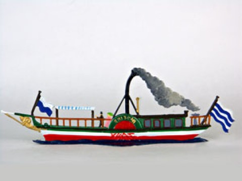 Tristan Steamboat Standing Pewter Wilhelm Schweizer - TEMPORARILY OUT OF STOCK
