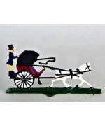 Horse Drawn Carriage Miniature Standing Pewter Wilhelm Schweizer