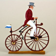 TEMPORARILY OUT OF STOCK - Tricycle Standing Pewter BABETTE SCHWEIZER