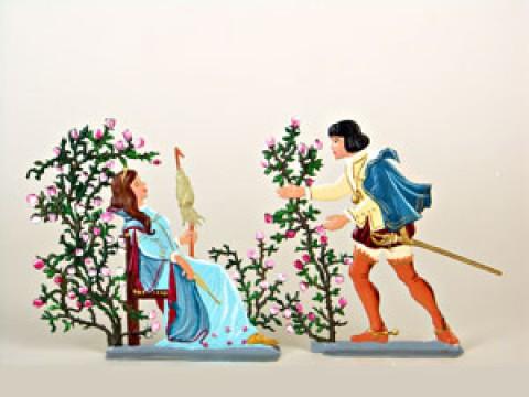 Wilhelm Schweizer Fairytale Pewter Sleeping Beauty Set of 2