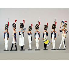 French Guard Soldiers Standing Pewter Wilhelm Schweizer