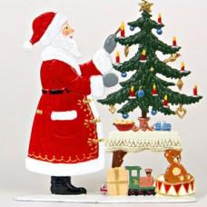 Santa Lighting the Tree Anno 1994 Christmas Pewter Wilhelm Schweizer