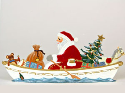 Sailor Santa Anno 1990 Christmas Pewter Wilhelm Schweizer - TEMPORARILY OUT OF STOCK