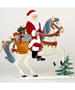 Santa on Horse Anno 1996 Christmas Pewter Wilhelm Schweizer