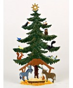 Birds in Tree Christmas Pewter Wilhelm Schweizer