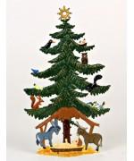 Birds in Tree Christmas Pewter Wilhelm Schweizer