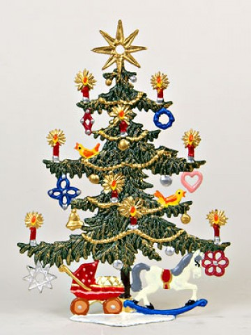 Tree with Star and Toys Christmas Pewter Wilhelm Schweizer