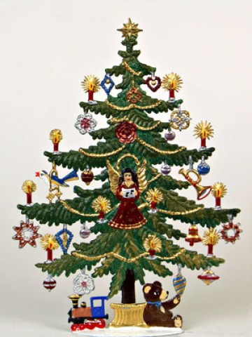 TEMPORARILY OUT OF STOCK - Large Candle Tree Christmas Pewter Wilhelm Schweizer