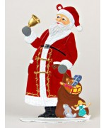 Santa with Bell and Sack Anno 1987 Christmas Pewter Wilhelm Schweizer