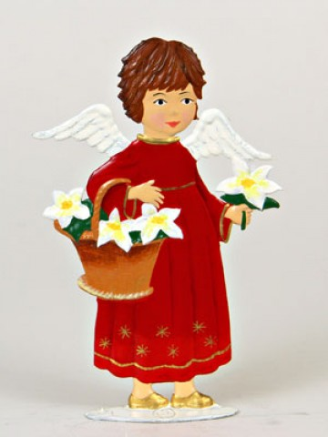 Angel with Flowers Anno 1994 Christmas Pewter Wilhelm Schweizer