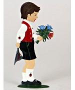 Bavarian Boy Congratulations Standing Pewter Wilhelm Schweizer