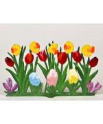 Wilhelm Schweizer Easter Oster Pewter Multi Flower Garden Tulips