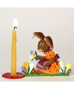 TEMPORARILY OUT OF STOCK - Wilhelm Schweizer Easter Oster Pewter Anno 1996 Bunny with Candle