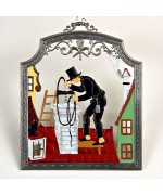 The Chimney Sweep Window Wall Hanging Wilhelm Schweizer