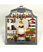 The Grocer Window Wall Hanging Wilhelm Schweizer